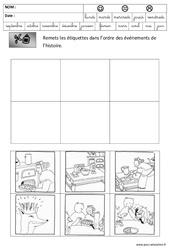Images séquentielles – Galette – Fête des rois : 3eme Maternelle – Cycle Fondamental