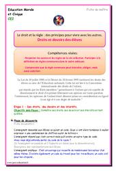 Droits et devoirs des élèves – EMC : 3eme Primaire