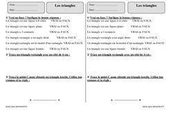 Triangles – Exercices avec correction – Géométrie : 3eme Primaire