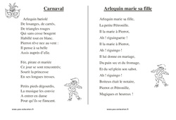 Carnaval – Chants – Comptines – Fiches  : 1ere, 2eme, 3eme Maternelle – Cycle Fondamental