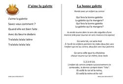 Galettes des rois – Chants – Comptines – Fiches  : 1ere, 2eme, 3eme Maternelle – Cycle Fondamental