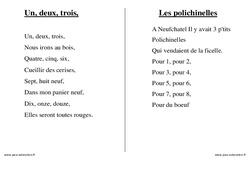 Numériques – Nombres – Chants – Comptines – Fiches  : 1ere, 2eme, 3eme Maternelle – Cycle Fondamental