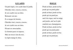 Pâques – Chants – Comptines – Fiches  : 1ere, 2eme, 3eme Maternelle – Cycle Fondamental