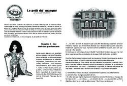 Le petit dej' masqué – Lecture 10 – Louis XIV – Famille Pass'Temps : 4eme Primaire