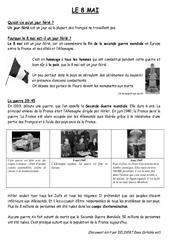 8 mai 1945 – Lecture documentaire : 3eme, 4eme, 5eme Primaire