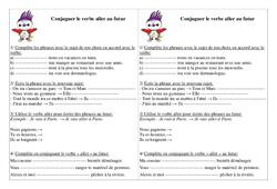 Verbe aller au futur – Exercices – Conjugaison – Français : 2eme Primaire