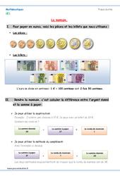 Monnaie – Cours, Leçon à imprimer : 2eme Primaire