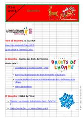 Calendrier pédagogique – Noël – Décembre : Primaire – Cycle Fondamental