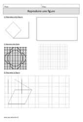 Reproduire une figure – Exercices – Géométrie – Mathématiques : 4eme Primaire