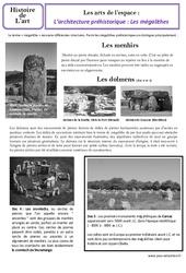 Architecture préhistorique – Arts de l'espace – Histoire de l'art : 3eme Primaire