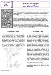 Fables d'Esope – Art du langage – Histoire des arts : 3eme, 4eme Primaire