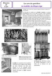 Mobilier du Moyen Age – Arts du quotidien – Histoire des arts : 4eme Primaire