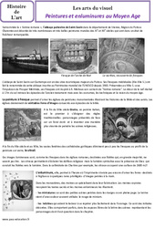 Peintures et enluminures au Moyen âge – Arts du visuel – Histoire des arts : 4eme Primaire