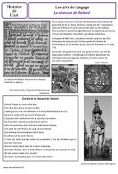 Chanson de Roland – Arts du langage – Histoire des arts : 4eme Primaire