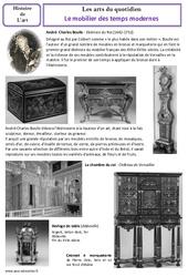 Mobilier des temps modernes – Arts du quotidien – Histoire des arts : 4eme, 5eme Primaire