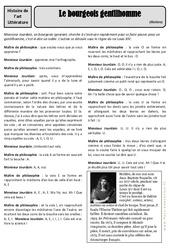 Le bourgeois gentilhomme – Molière – Arts du langage – Histoire des arts : 4eme, 5eme Primaire