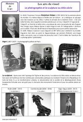 Sculpture – Photographie – XIXe siècle – Arts du visuel – Histoire des arts : 4eme, 5eme Primaire