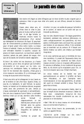 Le paradis des chats – Emile Zola – Arts du langage – XIXe siècle – Histoire des arts : 4eme, 5eme Primaire