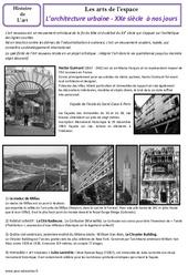 Architecture urbaine du XXe à nos jours – Arts de l'espace – Histoire des arts : 5eme Primaire