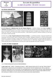Les objets du quotidien – XXe siècle  à nos jours – Arts du quotidien – Histoire des arts : 5eme Primaire