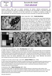 Art abstrait – Arts du visuel – Histoire des arts – XXème siècle : 5eme Primaire