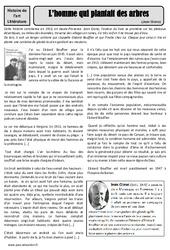 L'homme qui plantait des arbres – Jean Giono – Arts du langage – Histoire des arts – XXème siècle : 5eme Primaire