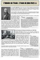 L'école de Jules Ferry – Lecture de la rentrée : 3eme, 4eme, 5eme Primaire
