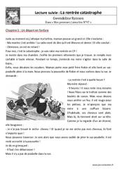 Catastrophe – Rentrée – Lecture suivie : 1ere, 2eme Primaire
