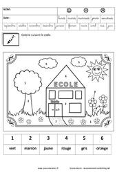 Coloriage magique – Jeux de la rentrée : 1ere, 2eme, 3eme Maternelle – Cycle Fondamental