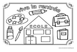 Vive la rentrée – Coloriage – Jeux de la rentrée : 1ere, 2eme, 3eme Maternelle – Cycle Fondamental