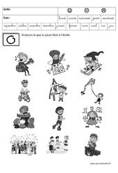 Activités à l'école – Jeux de la rentrée : 1ere, 2eme, 3eme Maternelle – Cycle Fondamental