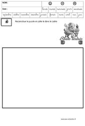 Puzzle – Jeux de la rentrée : 1ere, 2eme, 3eme Maternelle – Cycle Fondamental
