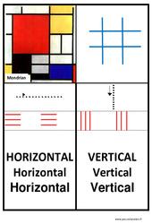 Affiche graphisme – Lignes horizontales et verticales – Petite, moyenne, et  : 1ere, 2eme, 3eme Maternelle – Cycle Fondamental