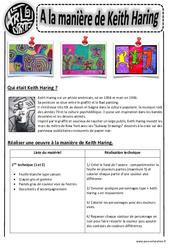 A la manière de Keith Haring – Arts visuels : 2eme, 3eme, 4eme, 5eme Primaire