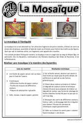 Mosaïques – Arts visuels : 2eme, 3eme, 4eme, 5eme Primaire