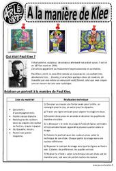 Paul Klee – Portraits – Arts visuels : 2eme, 3eme, 4eme, 5eme Primaire