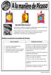 Picasso – Portraits – Arts visuels : 2eme, 3eme, 4eme, 5eme Primaire