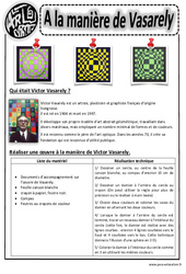 A la manière de Vasarély – Arts visuels : 2eme, 3eme, 4eme, 5eme Primaire