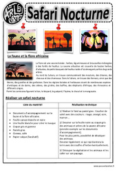 Safari Nocturne – Arts visuels : 2eme, 3eme, 4eme, 5eme Primaire