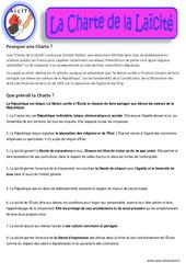 Charte de la Laïcité – Documents – Questionnaire – Correction : 3eme, 4eme, 5eme Primaire