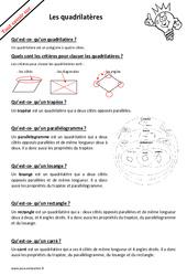 Qu'est ce qu'un quadrilatère? : 3eme, 4eme, 5eme Primaire