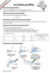 Qu'est ce qu'une droite parallèle? : 4eme, 5eme Primaire