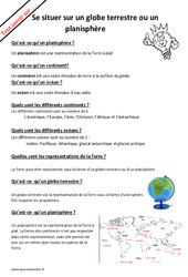 Qu'est – ce – qu'un planisphère? : 2eme Primaire