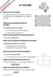 Qu'est – ce qu'un rectangle? : 4eme Primaire