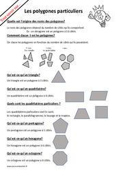 Qu'est ce qu'un polygone particulier? : 4eme, 5eme Primaire
