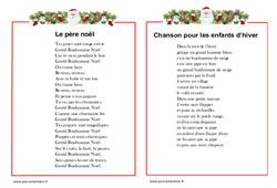 Poèmes sur le thème de noël : 3eme, 4eme, 5eme Primaire