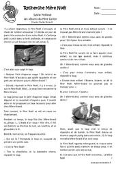 Recherche mère Noël – Conte de noël : 1ere, 2eme Primaire