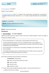 Se présenter – Numbers – Anglais – Famille vadrouille : 3eme Primaire