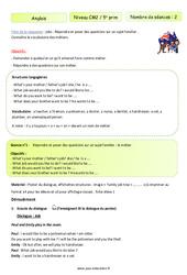 Jobs – Anglais – Famille Vadrouille : 5eme Primaire