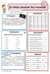 Cahiers de vacances à imprimer – Semaine 1 – Juillet : 5eme Primaire